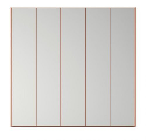 Wardrobe with five hinged doors in colour Humo and Mandarina