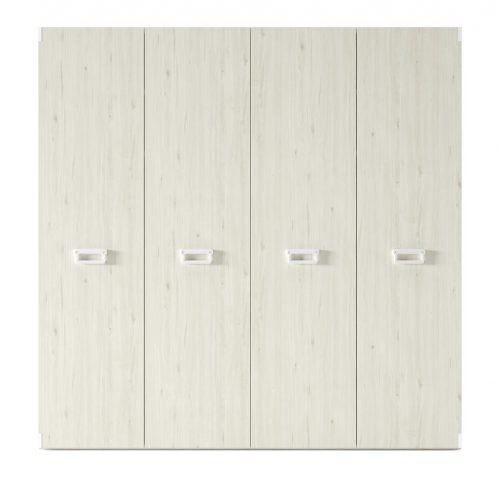 Wardrobe with four hinged doors in colour Abeto