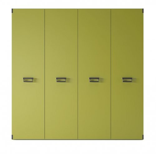 Wardrobe with four hinged doors in colour Oliva