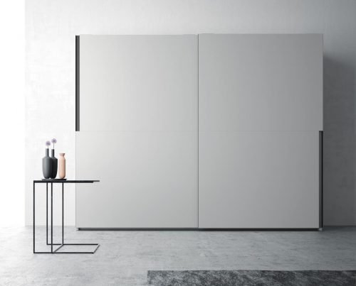 Wardrobe with two sliding doors in colour Humo
