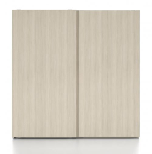 Wardrobe with two sliding doors in colour Roble