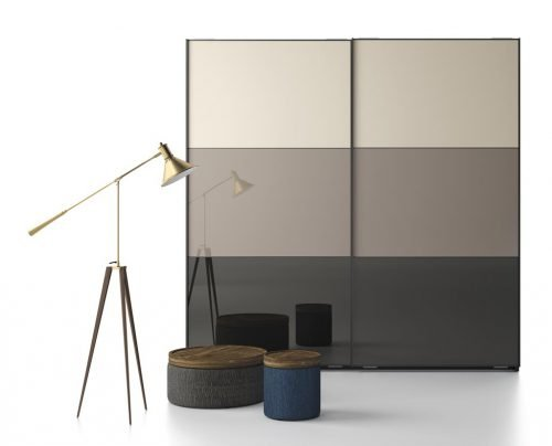 Wardrobe with two sliding doors in colours Tierra