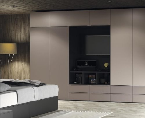 Wardrobe and TV unit for an adult bedroom