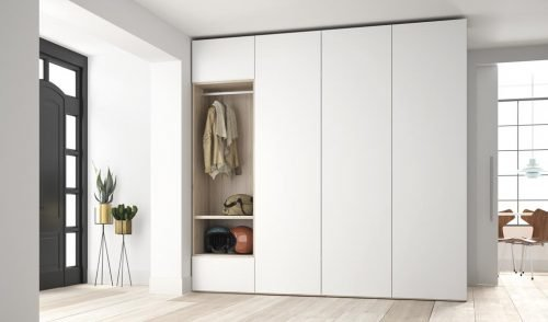 Wardrobe for the entrance in colours Nórdico and Blanco