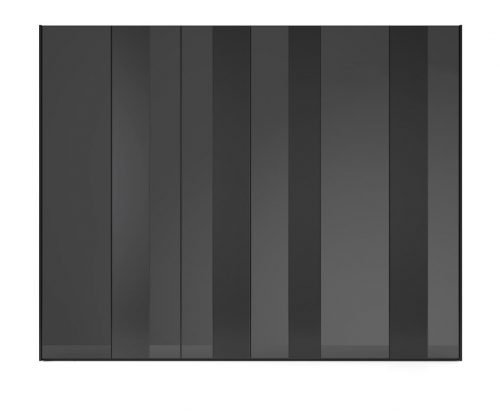 Wardrobe with six hinged doors in colour Vulcano