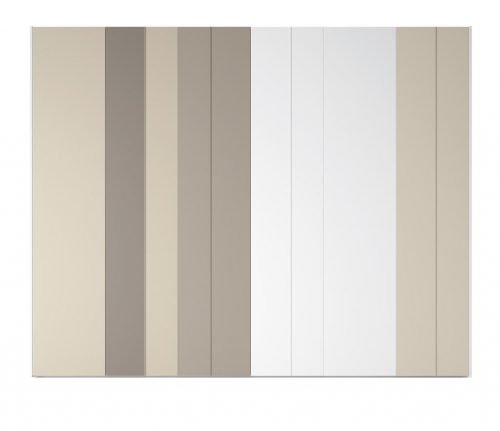 Wardrobe with six hinged doors in colours Naturales