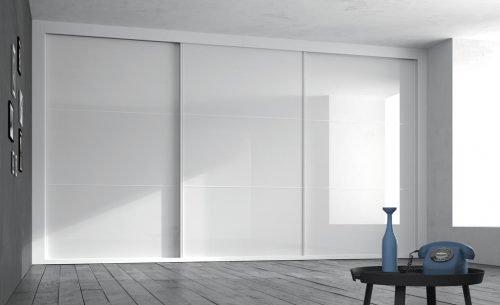 Wide wardrobe in colour Blanco Brillo