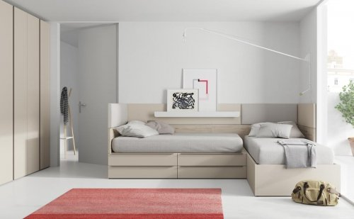 Junior room with furniture from our NEST collection in colour Tierra