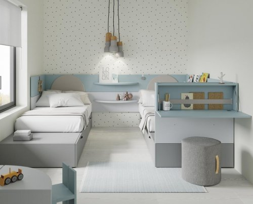 Junior room with two beds placed in parallel from our NEST collection