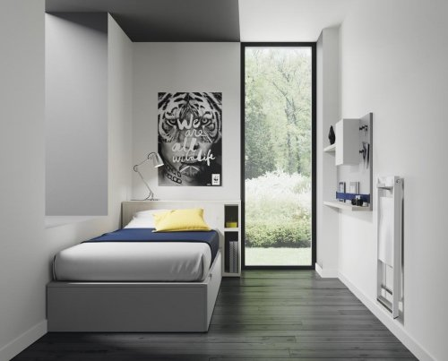 Extractable units with our FLAT collection allow you to make the most out of narrow rooms