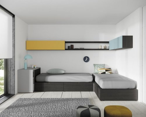 Junior room with two beds in an 'L-shape'