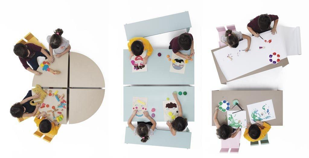 Mesas y sillas de la colección PUKKA del catálogo INFINITY 02