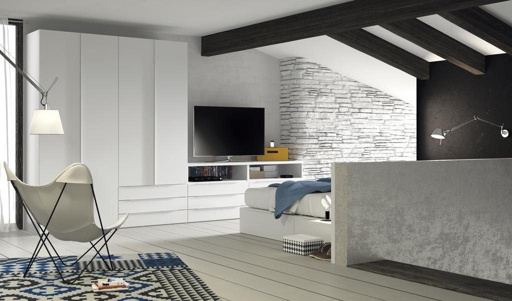 Mueble TV diferente para el dormitorio de adulto