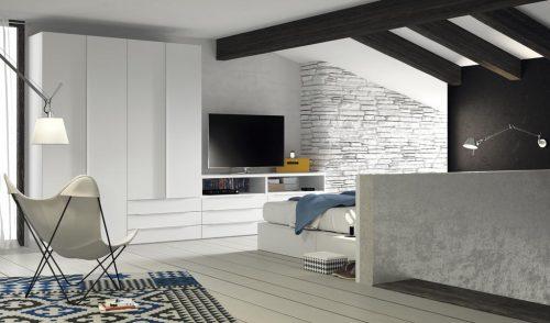 Original TV unit for an adult bedroom